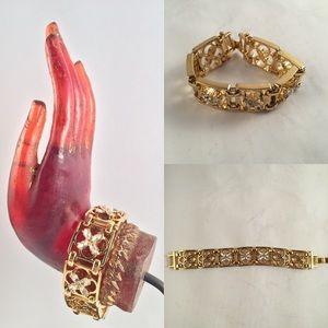 Jewelry - Gold plated rhinestone bracelet
